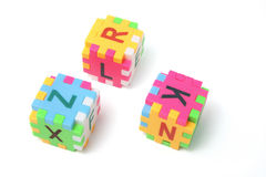 Alphabet Puzzle Cubes Stock Photo