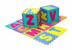 Alphabet puzzle isolated on white background Stock Photography