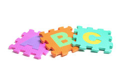 Alphabet Puzzle Pieces Royalty Free Stock Photography