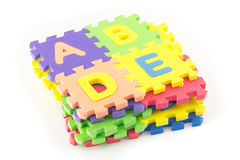 Alphabet puzzle pieces Royalty Free Stock Photo