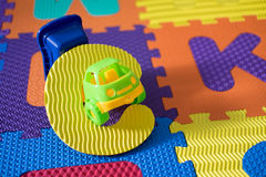 Alphabet puzzle pieces for kids Stock Photo