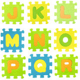 Alphabet puzzle Royalty Free Stock Images