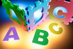 Alphabet Puzzles Royalty Free Stock Photography