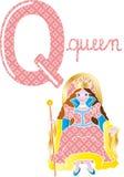 Alphabet q royalty free stock photo