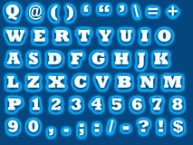 Alphabet qwerty. Sheet with the letters to be used for computer graphics with all the letters and numbers and some special character if needed Royalty Free Stock Photos