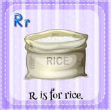 Alphabet R Stockfoto