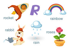 Alphabet R. Illustration of alphabet r set Royalty Free Stock Images