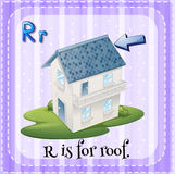Alphabet R is for roof Royalty Free Stock Image