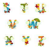 Alphabet rainbow from S to Z Stock Photography