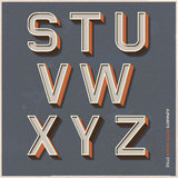 Alphabet retro colour style. Stock Photos