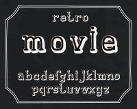 Alphabet retro design. Lower case English letters. Font clip art, vector illustration. Hand drawn. EPS 10. Alphabet retro design. Uppercase letters, English stock illustration