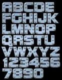 Alphabet riveté de bloc Photo stock