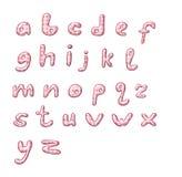Alphabet rose de point de polka illustration stock