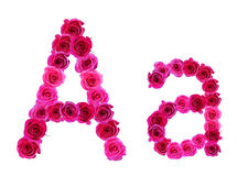 Alphabet of Roses Stock Photos