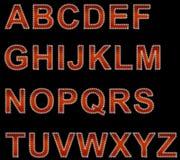 Alphabet rouge de Noël Image stock