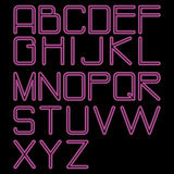 Alphabet_rounded_neon Images libres de droits
