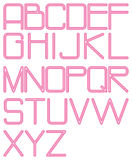 Alphabet rounded neon Royalty Free Stock Images