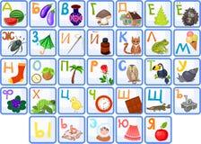 Alphabet russe Photos stock