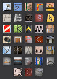 Alphabet russe cyrillien abstrait Photo libre de droits