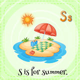 Alphabet S is for summer Royalty Free Stock Image