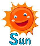 Alphabet  S for sun Royalty Free Stock Photo