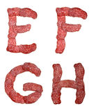 Alphabet of salami Stock Photo
