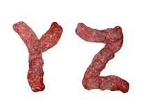 Alphabet of salami Royalty Free Stock Photos