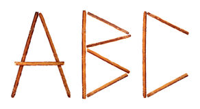 The alphabet from salty sticks Royalty Free Stock Photography