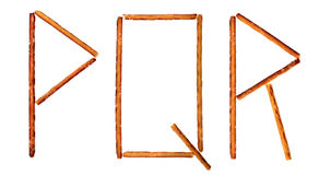 The alphabet from salty sticks Royalty Free Stock Photo