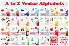 Alphabet-Satz Lizenzfreies Stockfoto