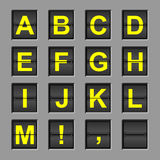 Alphabet-Schlag-Vorstand Stockfotos
