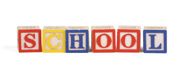 Alphabet school blocks Royalty Free Stock Image