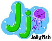 Free Alphabet Sea Jellyfish The Letter Jj On A White. Preschool Education. Stock Image - 157901231