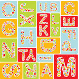 Alphabet seamless pattern Stock Images
