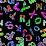 Alphabet seamless pattern Stock Photography