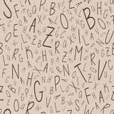 Alphabet seamless pattern Royalty Free Stock Photo