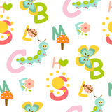 Alphabet seamless pattern Royalty Free Stock Images