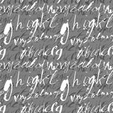 Alphabet seamless pattern. Stock Images