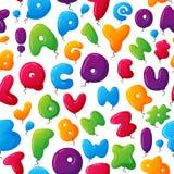 Alphabet seamless pattern vector illustration. Seamless childish colorful alphabet pattern. Vector illustration fabric ornament grammar study typescript Stock Photos