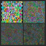 Alphabet seamless patterns Royalty Free Stock Images