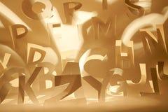 Alphabet semblable au papier Photographie stock