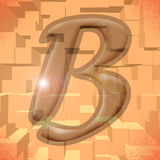 Alphabet series: letter B. Computer generated illustration of the letter B Royalty Free Stock Image
