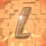 Alphabet series: letter L. Computer generated illustration of the letter L Royalty Free Stock Images
