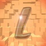Alphabet series: letter L. Computer generated illustration of the letter L stock illustration