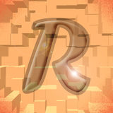 Alphabet series: Letter R. Computer generated illustration of the letter R royalty free illustration