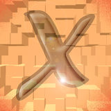 Alphabet series: Letter X. Computer generated illustration of the letter X Stock Image