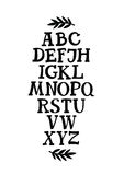 Alphabet Serif font Stock Image