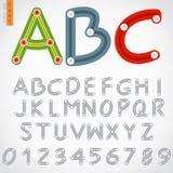 Alphabet set of button slide Royalty Free Stock Image