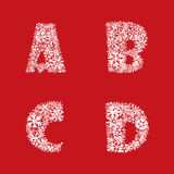 Alphabet Set. Christmas and New Year ABC letters. Christmas alphabet number  illustration Royalty Free Stock Images