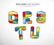 Alphabet set created from playing bricks Stock Photography